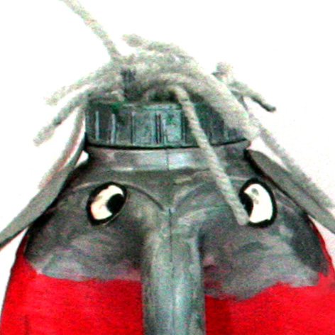 <b>Recycled Junk Elephant Sculptures</b> - by Cragside Primary School Pupils - 1 of 4