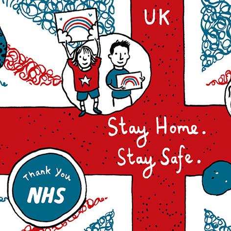 <b>Coronavirus COVID-19 Pandemic</b> - UK Infographic Illustration