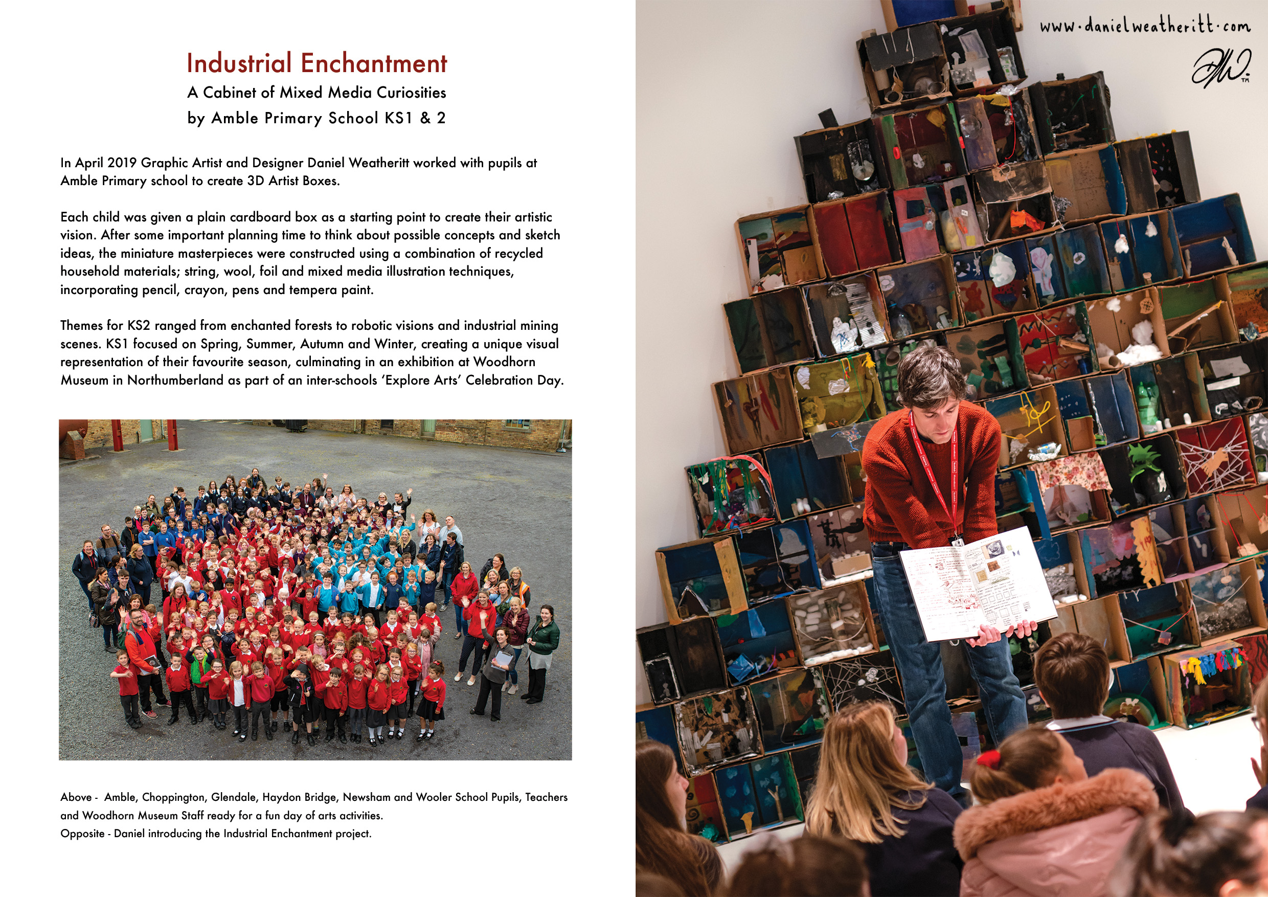 <b>Industrial Enchantment</b> - Pupil visual response exercises to Exhibition - 2 of 7