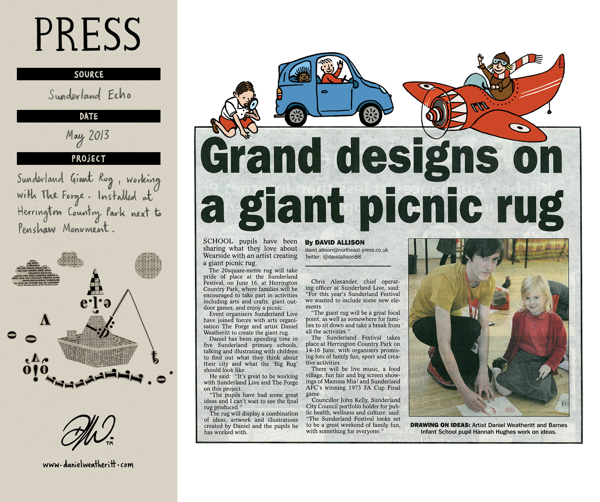 <b>Sunderland Giant Rug</b> - Sunderland Echo Article