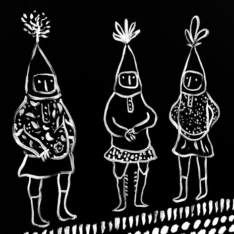 <b>Wonderfolk at Woodhorn Museum</b> - Illustrated Chalk Blackboard / 1 of 7