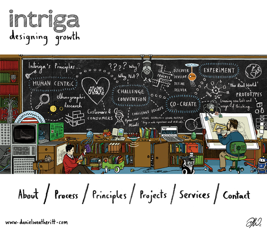 <b>Intriga</b> - Branding & Website Design - 2 of 6