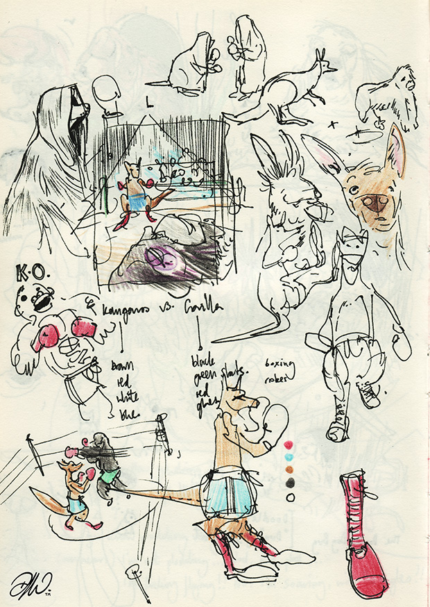 <b>Sketchbook Compilation V1</b> - Selected works and project notes - 15 of 24