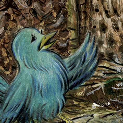<b>Twitter Bird Gathering</b> - Mixed Media - 1 of 3