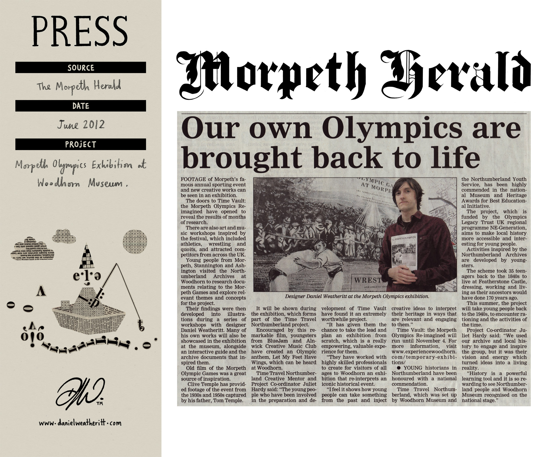 <b>Morpeth Olympics 1933 Exhibition</b> - Morpeth Herald Article