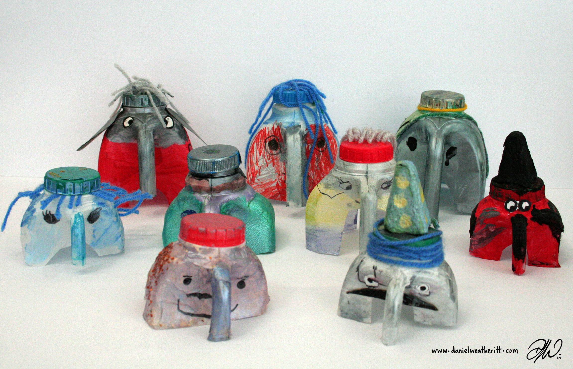 <b>Recycled Junk Elephant Sculptures</b> - by Cragside Primary School Pupils - 2 of 4