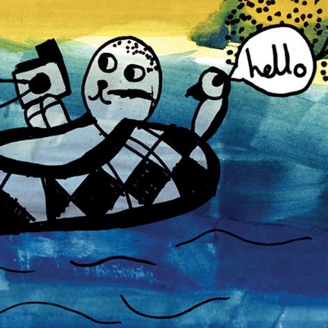 <b>Seahouses Primary School</b> - Coastal themed illustration workshop - 1 of 2