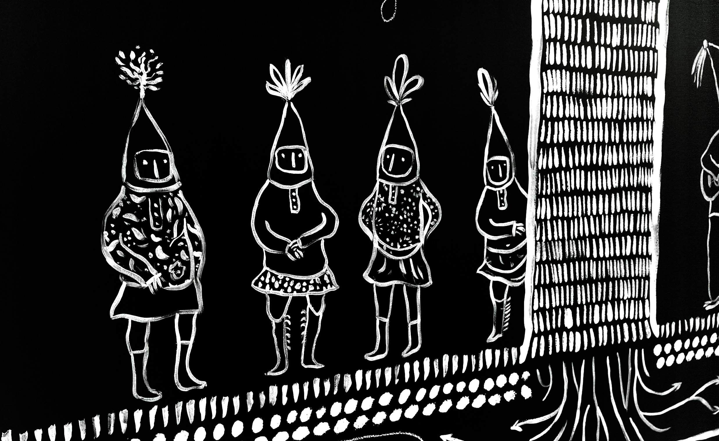 <b>Wonderfolk at Woodhorn Museum</b> - Illustrated Chalk Blackboard / 5 of 7