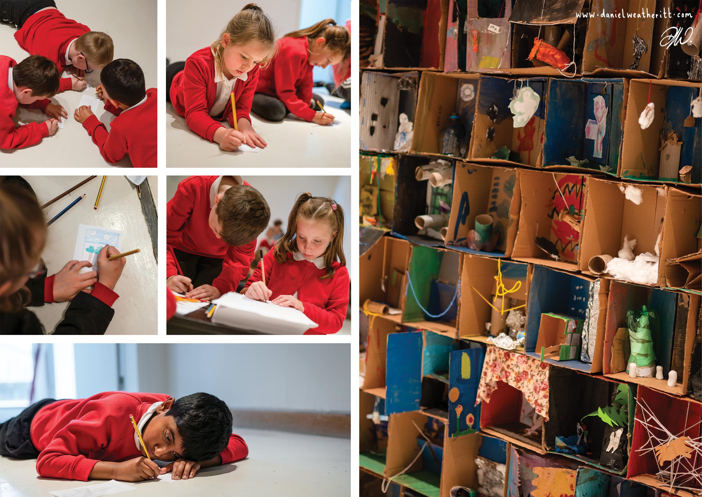 <b>Industrial Enchantment</b> - Amble Primary School Artist Box Installation - 3 of 7