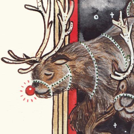 <b>The Christmas Tree Who Lost Its Light</b> - Xmas Story Illustration