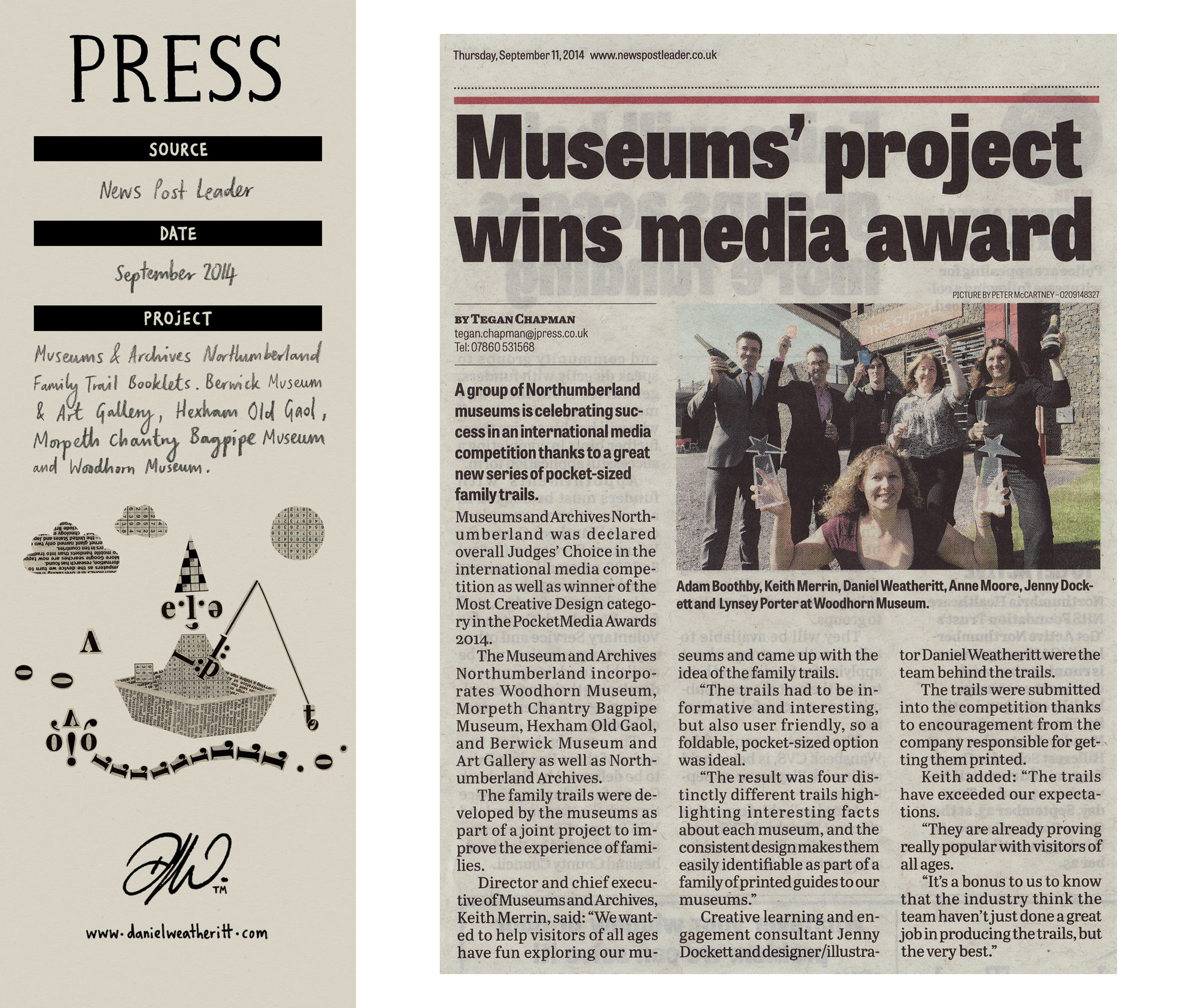 <b>Northumberland Museum Family Trails</b> - News Post Leader Article