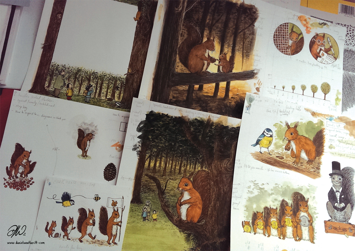 <b>Northumberland Wildlife Trust</b> - Illustrations for The Last Red Squirrel - 4 of 4